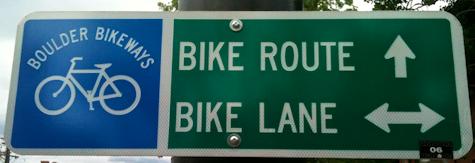 boulder bikeways sign