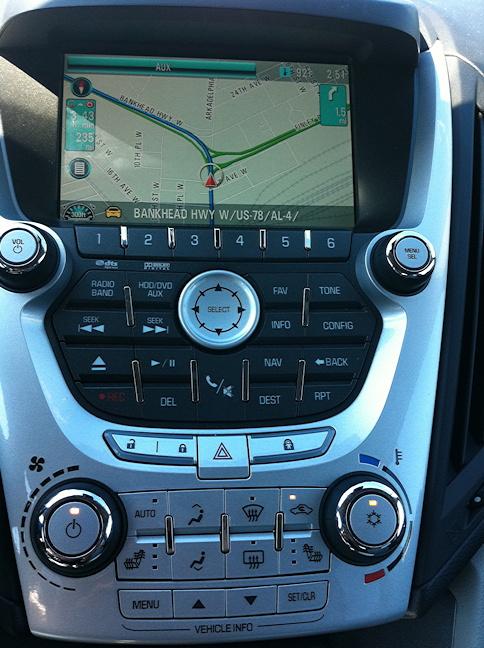 chevy equinox 2010 center controls