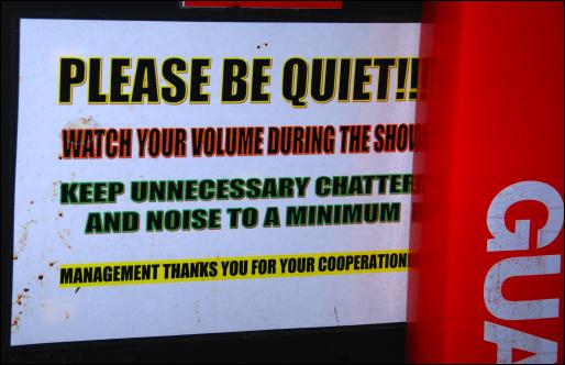 cirque o be quiet sign