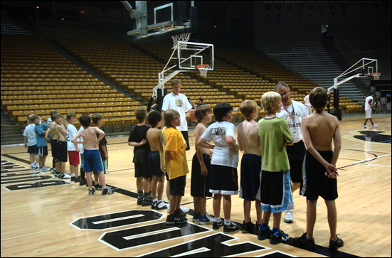 cu basketball camp boys drill