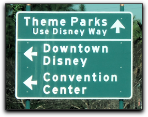 disney road sign
