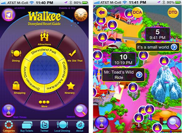 disneyland iguide walkee iphone app