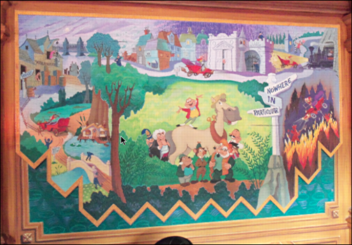 disneyland mr toad wild ride mural
