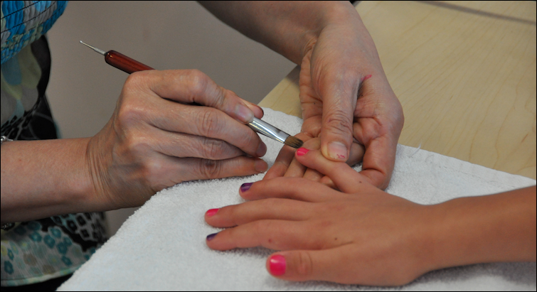 first manicure