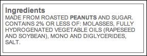jif ingredients