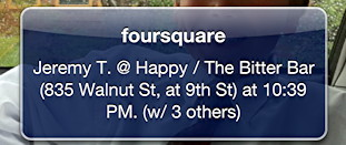 late night foursquare checkin
