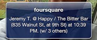 late night foursquare checkin