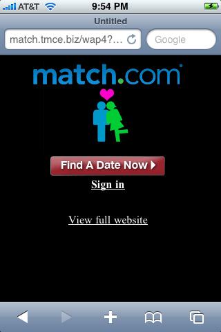 match com iphone