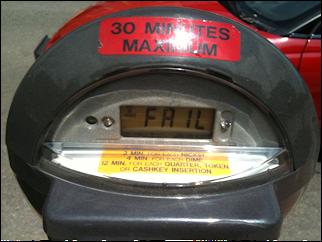 parketing meter fail