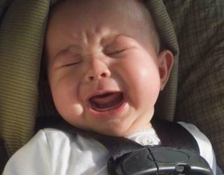 screaming baby in car seat