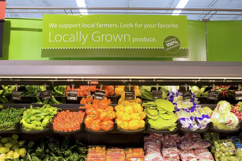walmart organic produce department