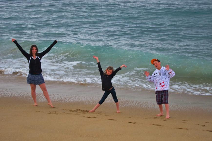kids on the beach, newport beach, ca