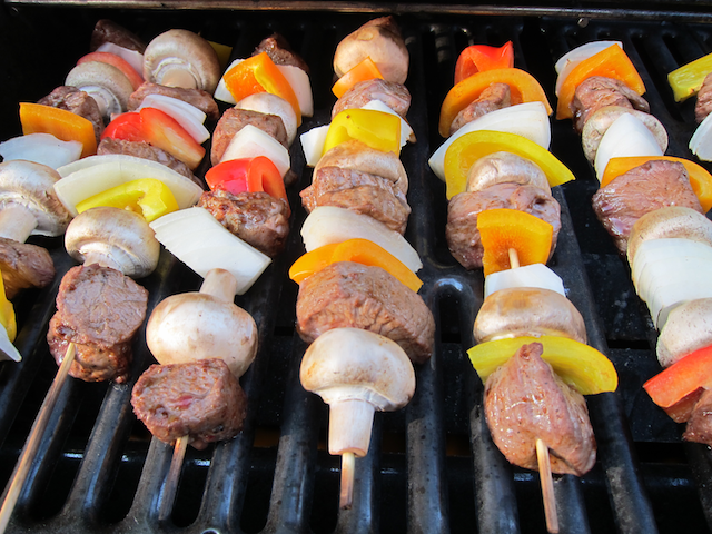 Beef Shishkabobs on the Grill