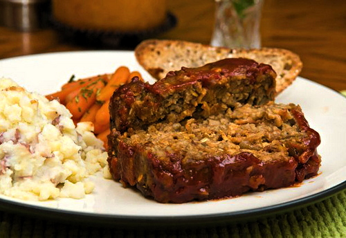 vegan meatloaf for dinner