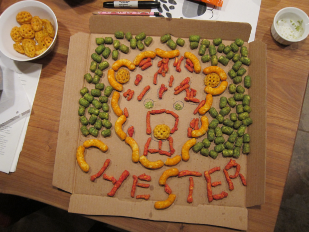 Finished: Chester Cheetah out of Cheetos