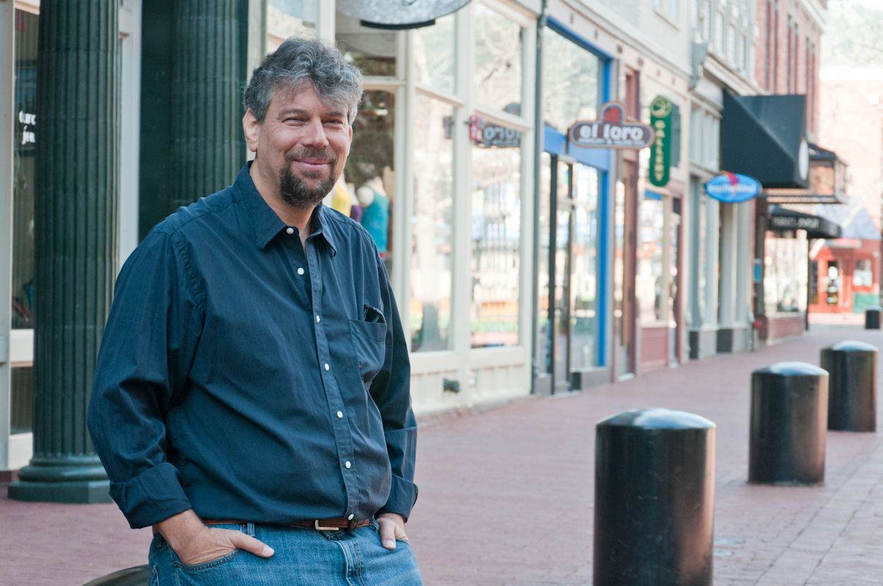 Dave Taylor on Pearl Street Mall, Boulder CO