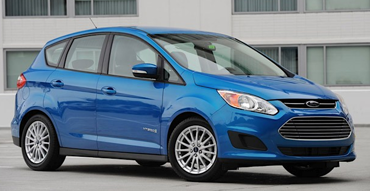 ford cmax hybrid, blue