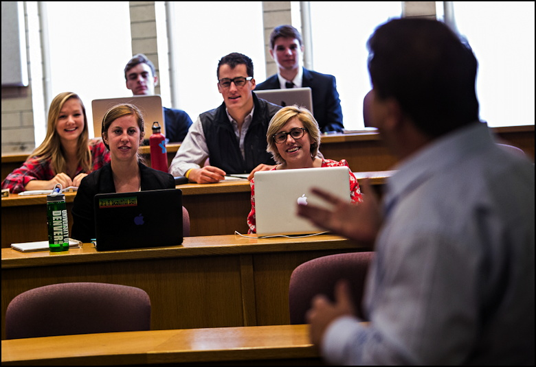 Professor Morava teaching a class of Millenials