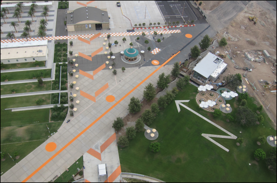 Arial View of the Orange County Great Park