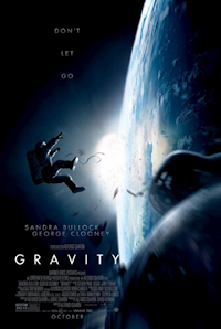 Gravity one sheet - Sandra Bullock and George Clooney