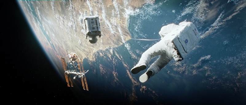 "Sandra Bullock as Astronaut Ryan Stone in ""Gravity"""