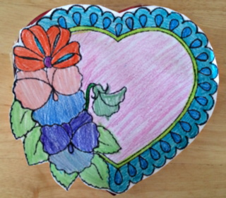 heart coloring page for valentine's day