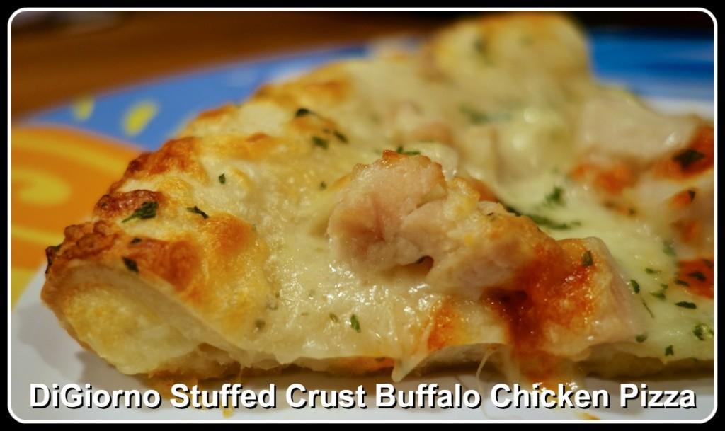 digiorno stuffed crust buffalo chicken pizza close up
