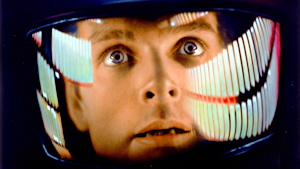 dave bowman gazes with wonder, 2001: A Space Odyssey