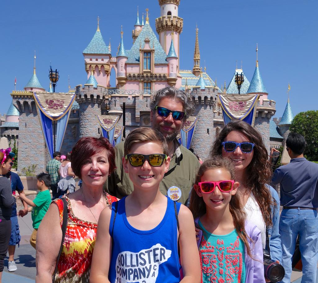 Family Portrait with Iconic Background, Disneyland, CA