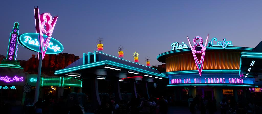 Radiator Springs at Sunset, Disney's California Adventure
