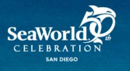 seaworld san diego 50th anniversary celebration logo