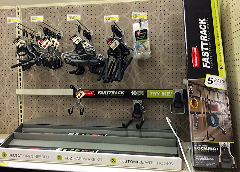 rubbermaid fasttrack display at target, boulder co