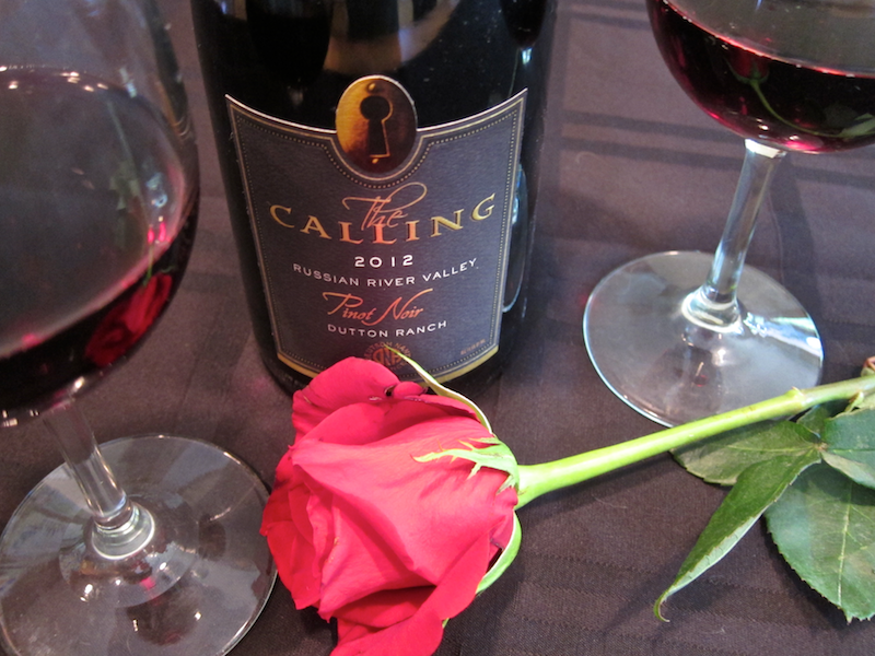 sharing a glass of wine with dad for father's day - the calling pinot noir
