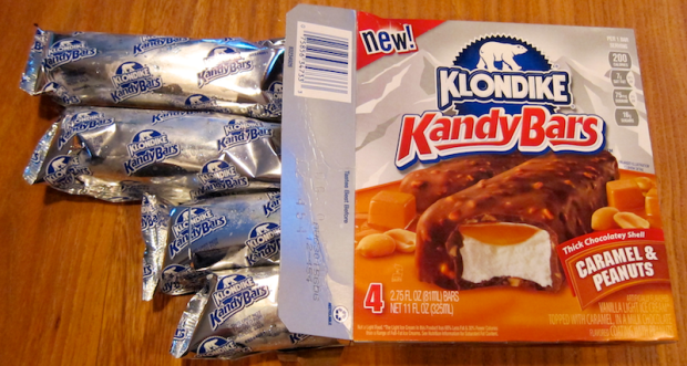 klondike kandy bars pulled out of the box
