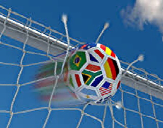 soccer ball going into net, 320x250