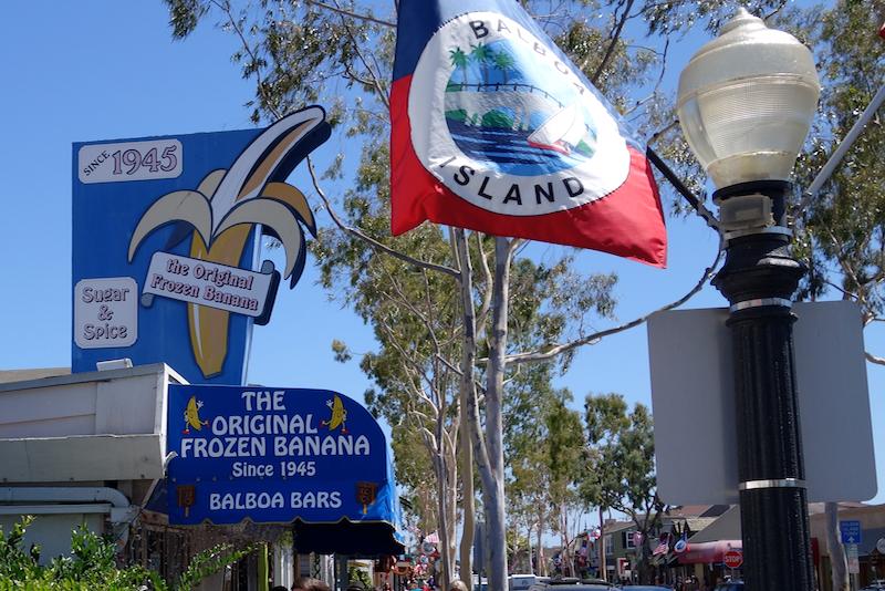 frozen bananas, a newport beach treat