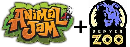 Animal Jam logo + Denver Zoo logo