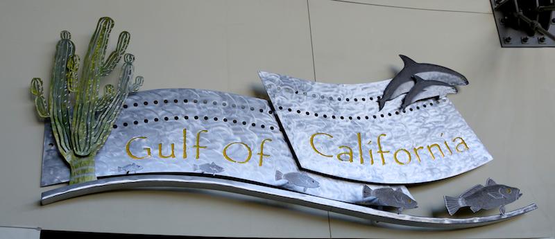 Gorgeous signage at the Aquarium of the Pacific