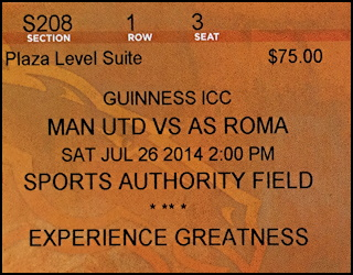 manchester united vs as roma, sports authority field