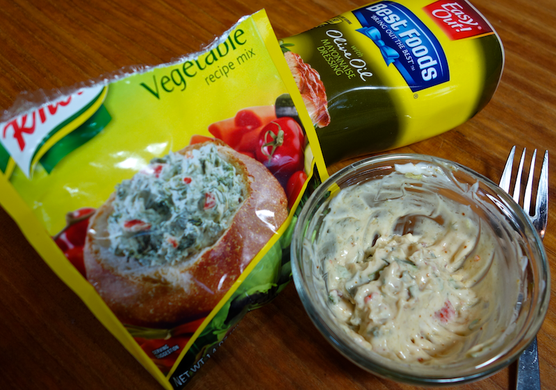 sandwich spread with knorr soup mix and best foods hellmans olive oil mayo