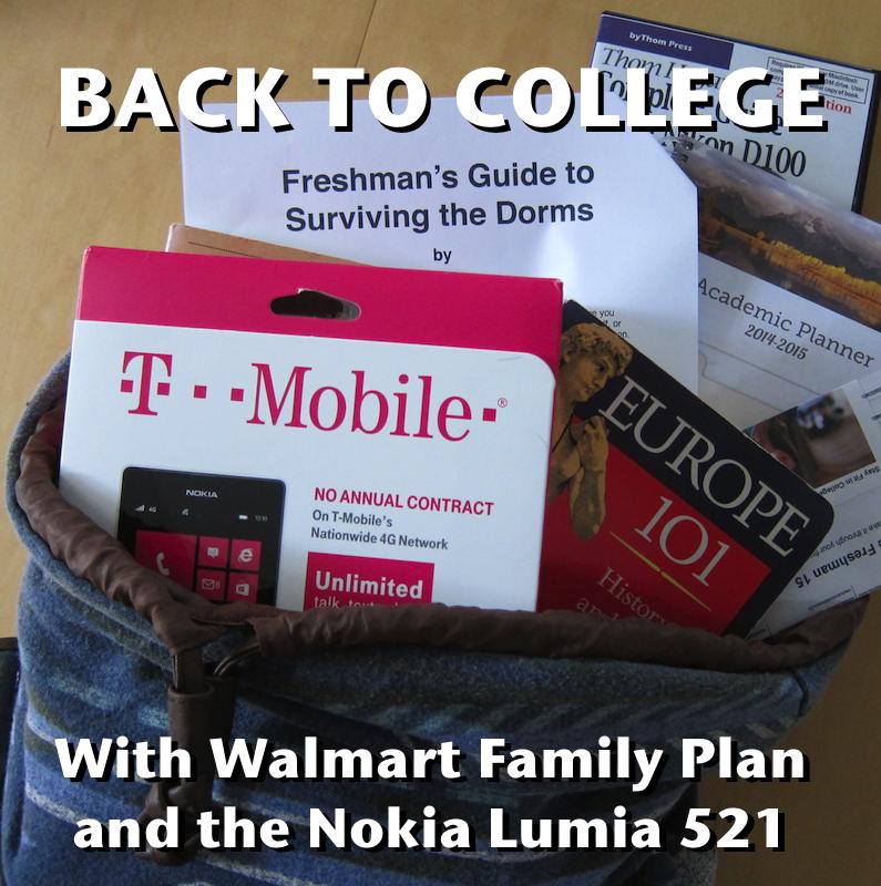 back to college with walmart family mobile, nokia lumia 521