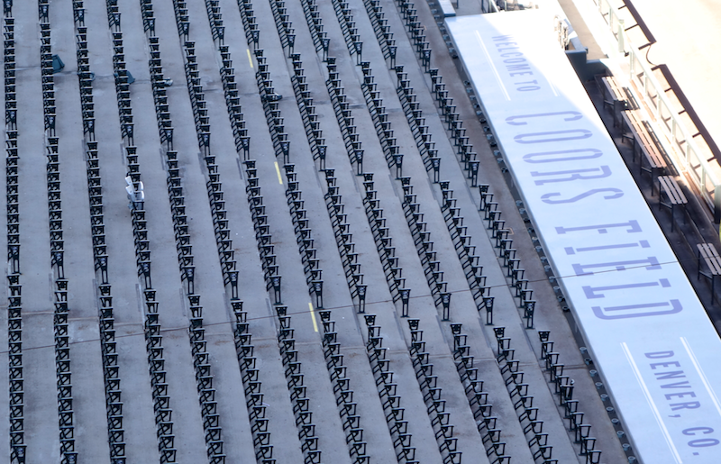 silver bullet seats in the stands while the rest of the seats are replaced