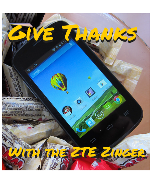 give thanks with the zte zinger from walmart