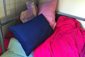 the great pile of pillows. in technicolor