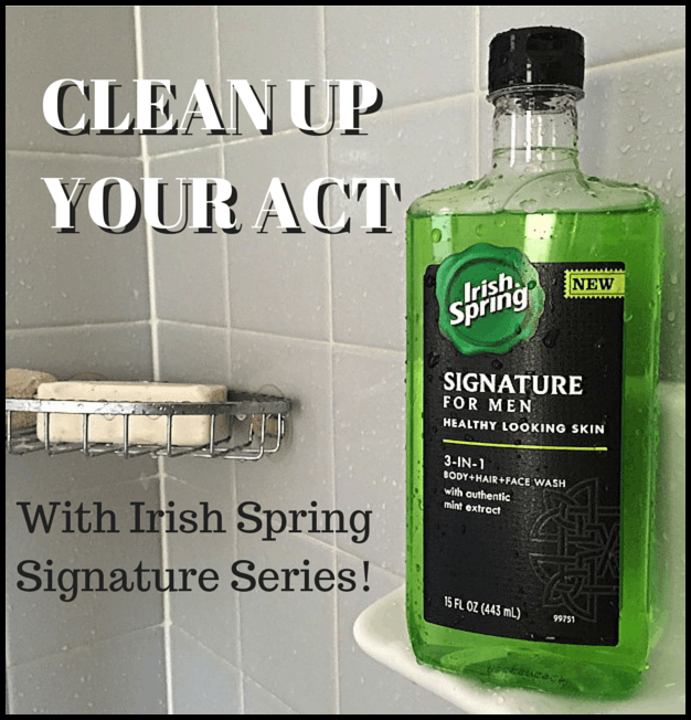 clean up your act with irish spring signature for men