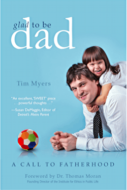 glad to be dad - book cover - tim myers