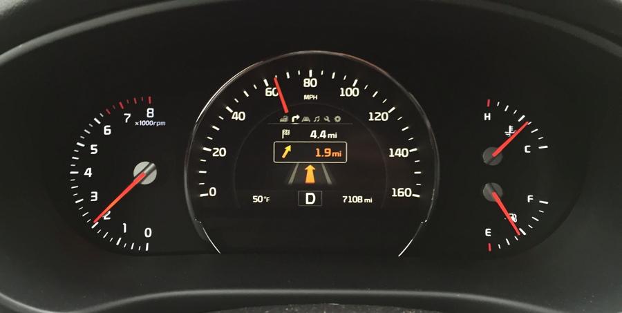 on-dash directions navigation display