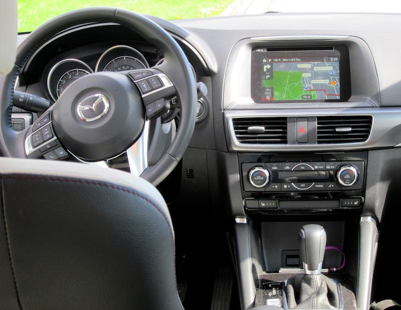 front console, mazda cx-5 2016
