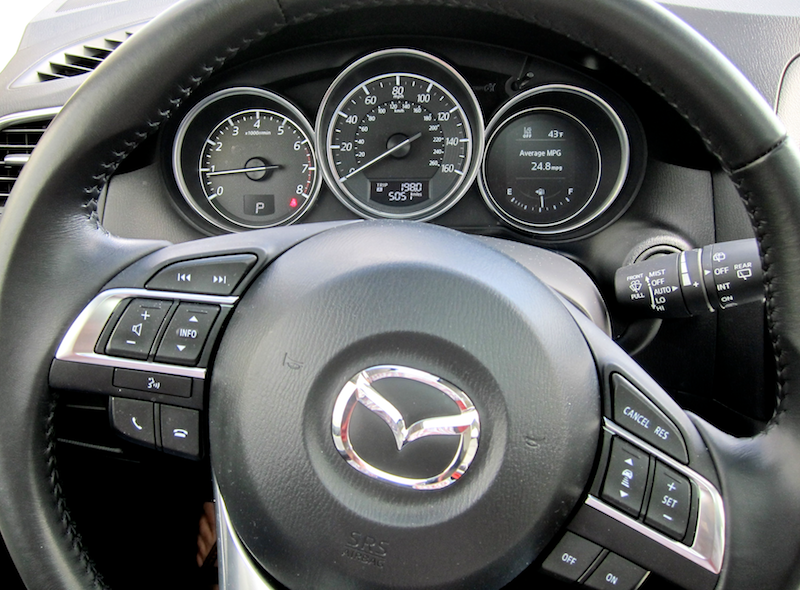 dashboard and steering controls, 2016 cx-5