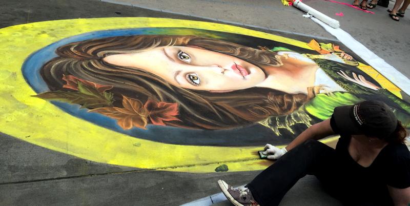 chalk art festival artist, denver chalk art festival 2015